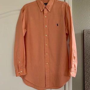 """⭐️Ralph Lauren class fit orange shirt - 15.5"""""""